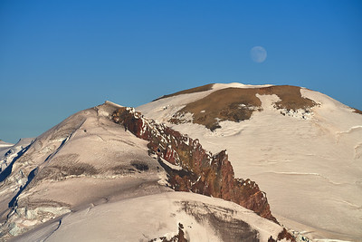 Moon over the glaciers