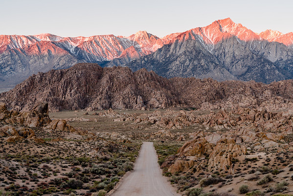 *That* shot of Alabama Hills at sunrise. California.