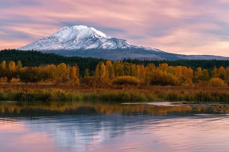 Mount Adams Fall Sunrise