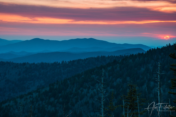 Red Appalachian Sun