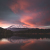 Blazing Sunset Over Mt. Shasta