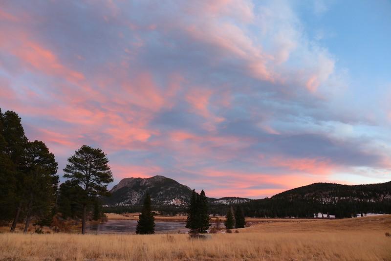 Sunset at Sheep Lake