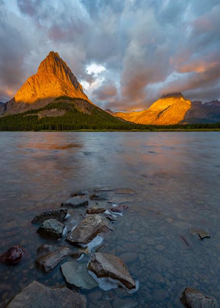 Daybreak at Swiftcurrent Lake