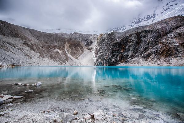 Laguna 69, at 4600 m (15,000 ft)