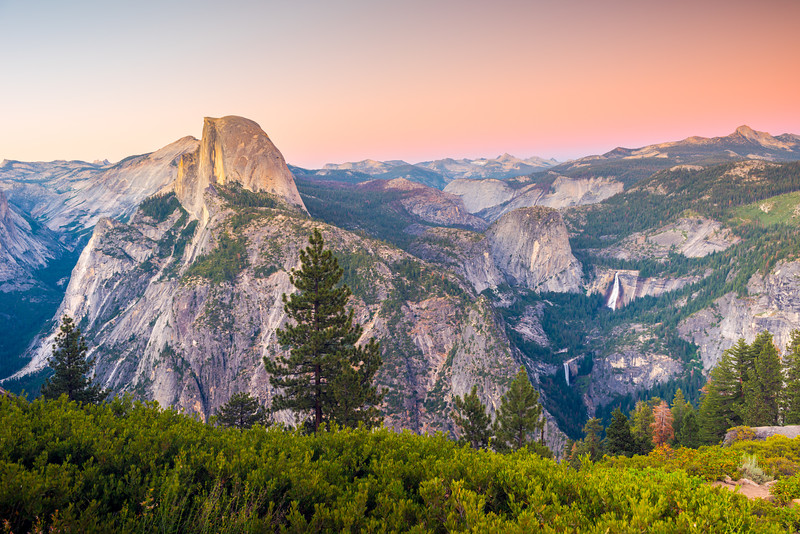 Half Dome and the Mist Trail