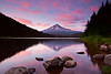 Trillium Pinks - Pastel colors bathe the sky around Mt Hood during a summer sunset.