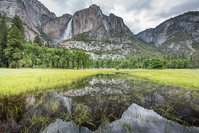 Yosemite Falls and Reflection of the Valley
