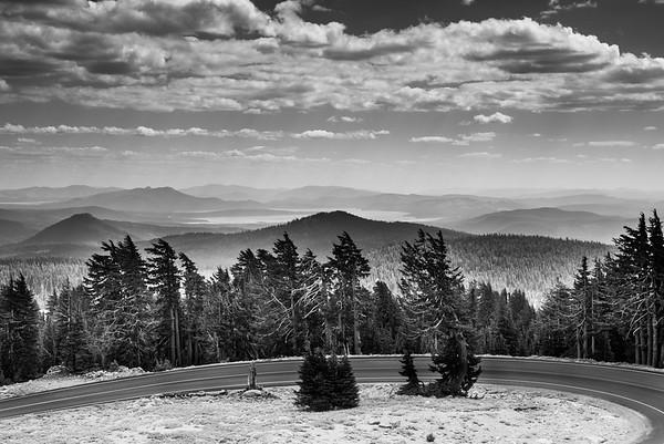 Mount Lassen Black and White, California