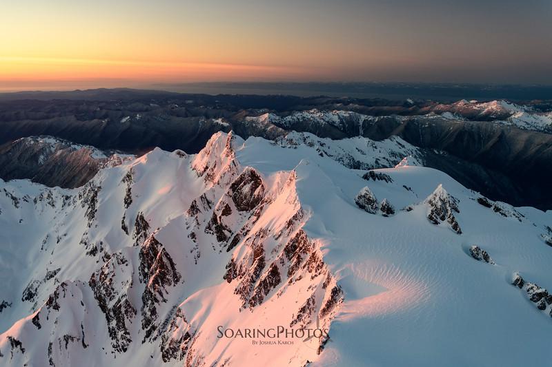 Last glow of Mt. Olympus