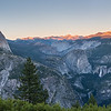 Sunset at Half Dome - Panorama
