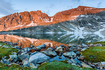 Goat Lake Sunrise, Pioneer Mountains, Idaho.