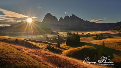 Sunrise on the Alp de Susi