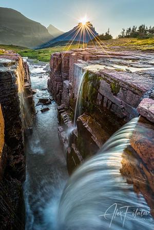 Sun-Crowned Falls