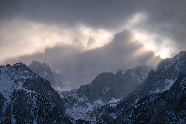 Mt Whitney making a dramatic appearance