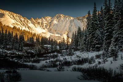 Evening light on Mayflower Gulch | Ten Mile Range, Colorado