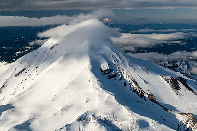 Mt. Adams Peering over Mt. Jefferson