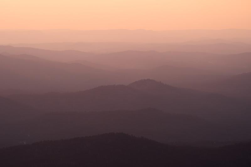 Layers of hills from the summit of Black Elk Peak, South Dakota.