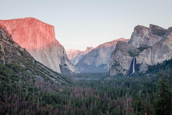 Glacier Point sunset, Yosemite, California.