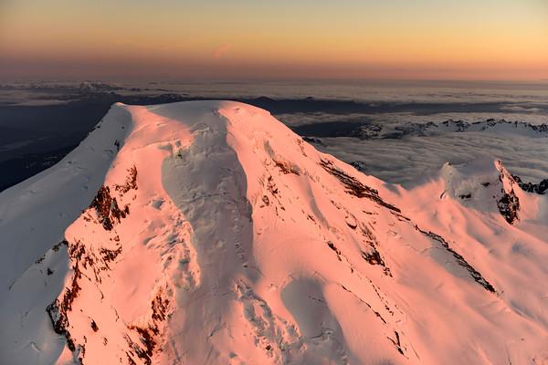 Alpenglow over Mt. Baker