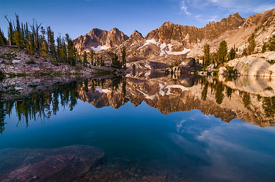Lake Kathryn Morning, Sawtooth Mountains, Idaho.