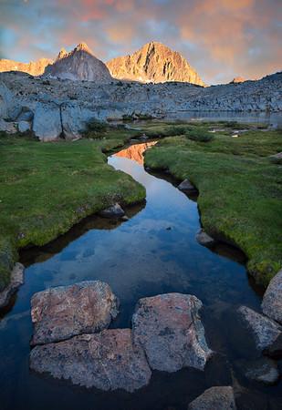 Dusy Creek Sunset