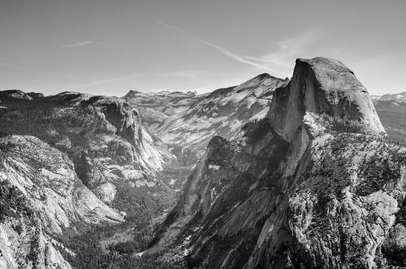 Black and White Half Dome, Yosemite National Park