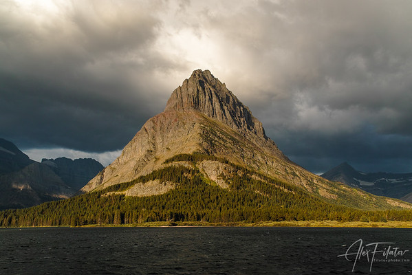 Storm Light on Mount Grinnell