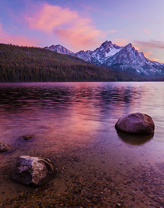 Stanley Lake Sunset, Sawtooth Mountains, Idaho.