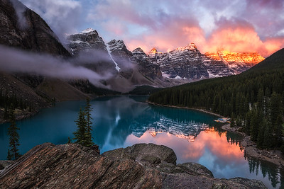 Sunrise at Moraine Lake, Banff - Canadian Rockies