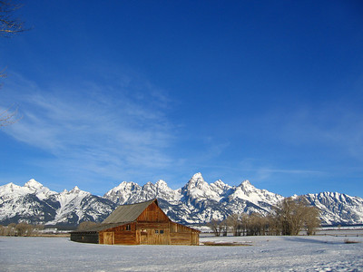 Barn on Mormon Row at Grand Teton National Park, Wyoming