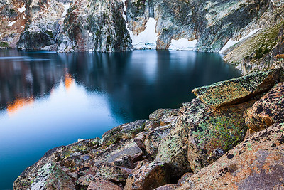 Goat Lake Evening, Sawtooth Mountains, Idaho.