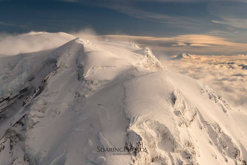 Peering onto Rainier Summit