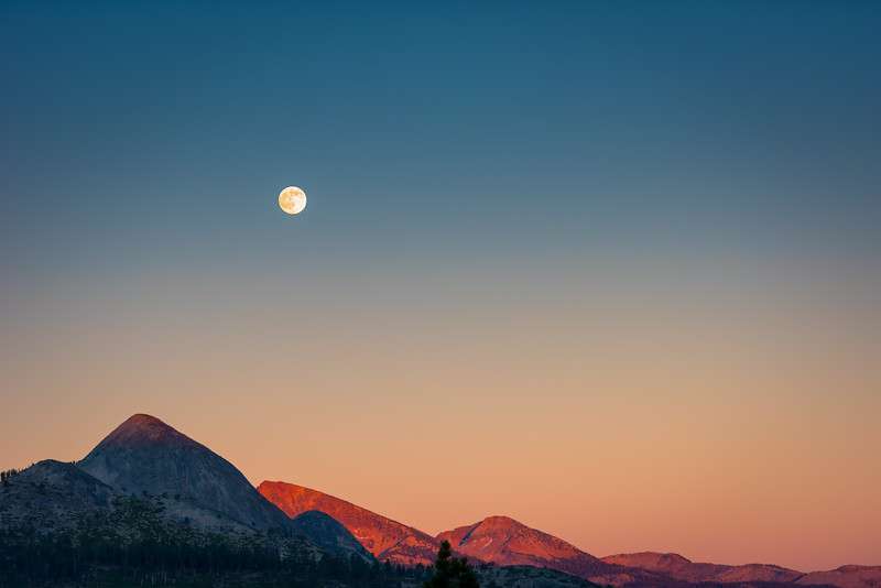 Moon Rise in Yosemite