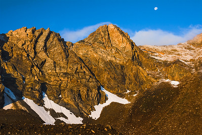Dawn above Pass Lake, Lost River Range, Idaho.