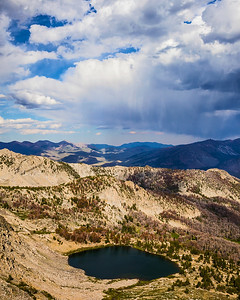 Afternoon Rain over Goat Lake, Pioneer Mountains, Idaho.