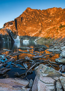 Goat Lake Dawn, Sawtooth Mountains, Idaho.