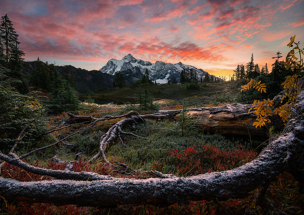 A colorful morning near Mt Baker - Washington