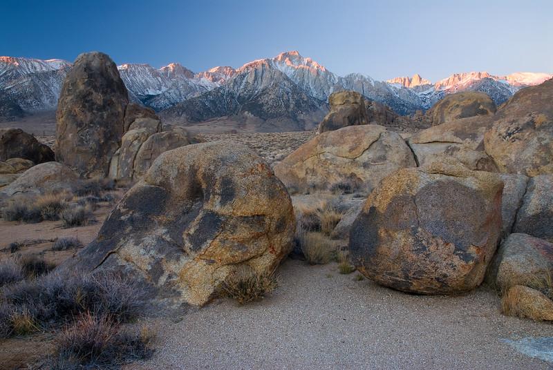 Lone Pine Peak and Boulders