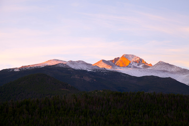 Sun Rise Flame on Longs Peak