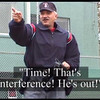 Batter interferes with fair batted ball. <br /> E-Rules_Video_E