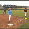 Overrun first base turning left safe and not safe.<br />  E-Rules_Video_K