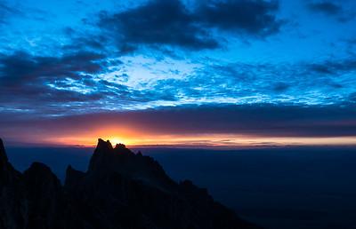 Sunrise over Teewinot