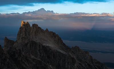 Final Light, Teewinot, Grand Tetons, Wyoming