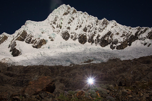 Alpamayo with guiding light