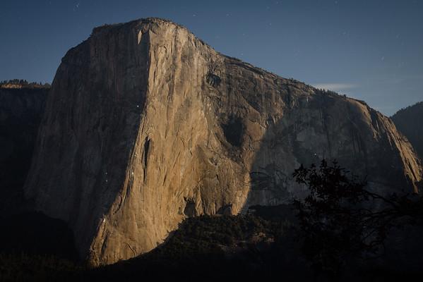 El Capitan with Full Moon Rising