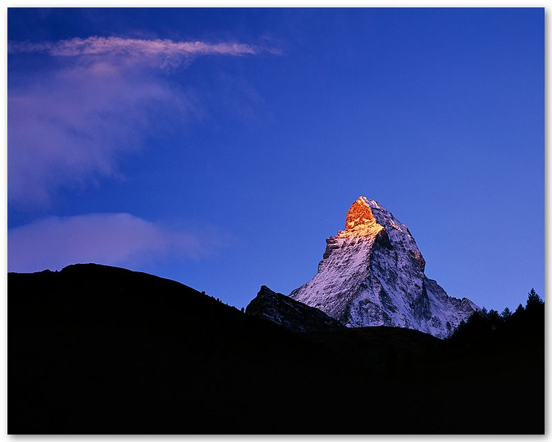 Sunrise Reaches Matterhorn (Switzerland)