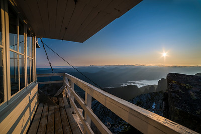 Sunrise from the summit of Pilchuck