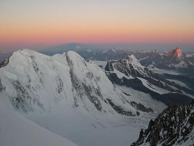 Sunrise from Zumsteinspitze