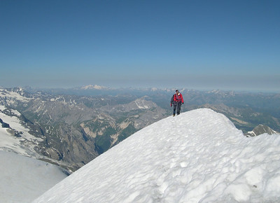 Grande Casse, the summit ridge