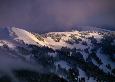 Winter View from Hurricane Ridge, Olympic National Park near Port Angeles, WA
